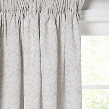 Buy Croft Collection Cara Weave Lined Pencil Pleat Curtains Online at johnlewis.com