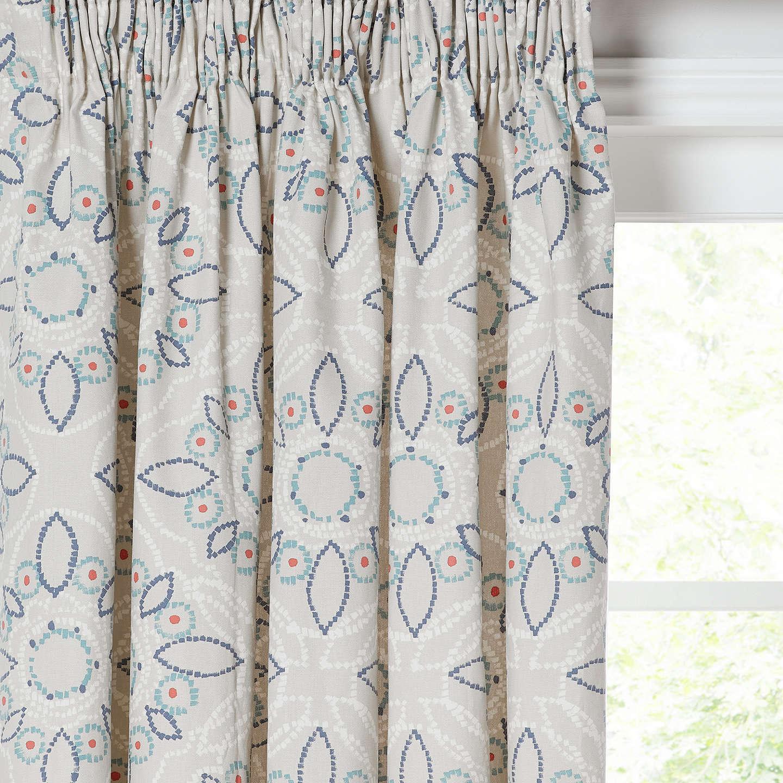 John Lewis Kasmanda Pair Lined Pencil Pleat Curtains, Indian Blue by John Lewis