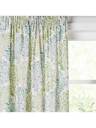 John Lewis & Partners Leckford Trees Pair Lined Pencil Pleat Curtains