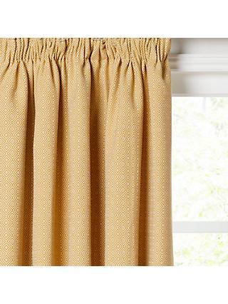 John Lewis Mara Diamond Lined Pencil Pleat Curtains