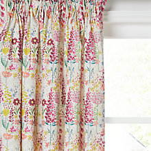 Buy John Lewis Flora Lined Pencil Pleat Curtains Online at johnlewis.com
