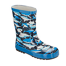 Buy John Lewis Children's Shark Wellington Boots, Blue Online at johnlewis.com