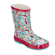 Buy John Lewis Children's Autumn Floral Wellington Boots, Multi Online at johnlewis.com