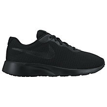 Buy Nike Children's Tanjun GS Trainers, Black Online at johnlewis.com
