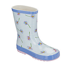 Buy John Lewis Children's Daisy Chain Wellington Boots, Multi Online at johnlewis.com
