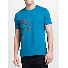 Buy John Lewis Bicycle Print T-Shirt, Blue Online at johnlewis.com
