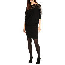Buy Phase Eight Lace Becca Dress, Black Online at johnlewis.com