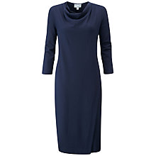 Buy Pure Collection Heavy Jersey Wrap Front Dress, Navy Online at johnlewis.com