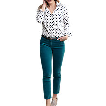Buy Pure Collection Washed Velvet Cropped Jeans Online at johnlewis.com