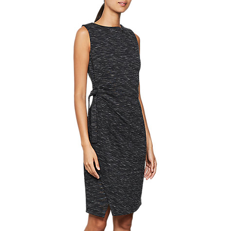 Buy Mint Velvet Tie Front Dress, Grey Online at johnlewis.com