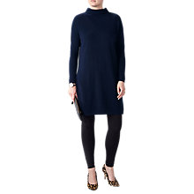 Buy Pure Collection Funnel Neck Tunic, Navy Online at johnlewis.com