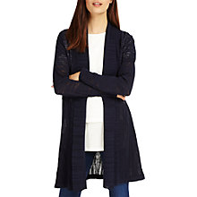 Buy Phase Eight Lili Longline Cardigan, Navy Online at johnlewis.com