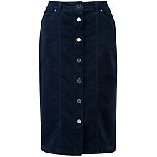 Buy Pure Collection Washed Velvet Button Skirt Online at johnlewis.com