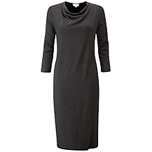 Buy Pure Collection Heavy Jersey Wrap Front Dress, Charcoal Marl Online at johnlewis.com