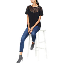 Buy Mint Velvet Ink Star Embroidered T-Shirt, Dark Blue Online at johnlewis.com