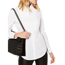 Buy Karen Millen Tailored White Shirt, White Online at johnlewis.com