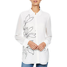 Buy Mint Velvet Marie Print Silk Shirt, Multi Online at johnlewis.com