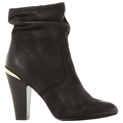 Steve Madden Wannabyy High Cone Heel Ankle Boots, Black Leather