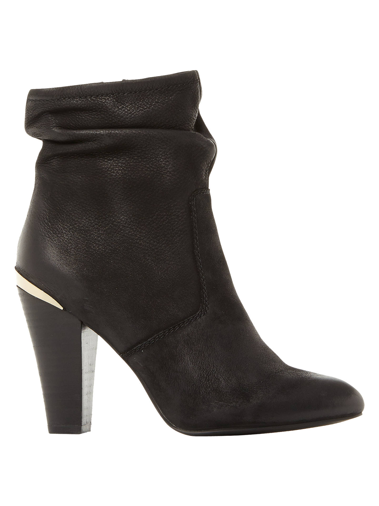 Buy Steve Madden Wannabyy High Cone Heel Ankle Boots, Black Leather, 3 Online at johnlewis.com