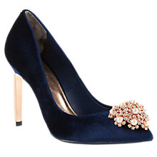 Buy Ted Baker Peetch Velvet Court Shoes Online at johnlewis.com