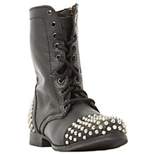 Buy Steve Madden Tarney Studded Biker Boots, Black Online at johnlewis.com
