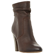 Buy Steve Madden Wannabyy High Cone Heel Ankle Boots, Brown Leather Online at johnlewis.com