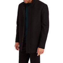 Buy Jaeger Funnel Neck Coat, Black Online at johnlewis.com