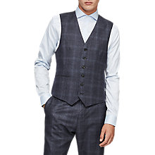 Buy Reiss Caine Wool Waistcoat, Airforce Blue Online at johnlewis.com