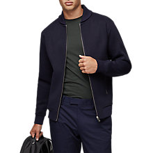 Buy Reiss Harold Bomber Jacket, Navy Online at johnlewis.com