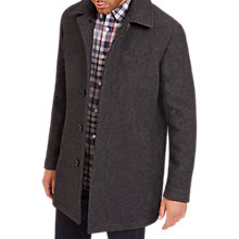 Buy Jaeger Wool Mac Coat, Grey Melange Online at johnlewis.com