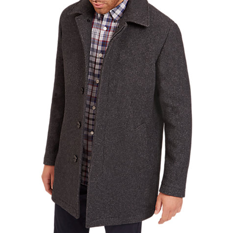 Buy Jaeger Wool Mac Coat, Grey Melange | John Lewis