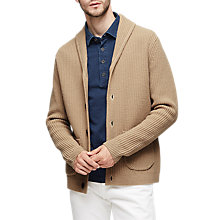 Buy Reiss Atlantic Shawl Collar Cardigan, Camel Online at johnlewis.com