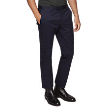 Buy Reiss Warick Regular Fit Chinos, Blue Online at johnlewis.com