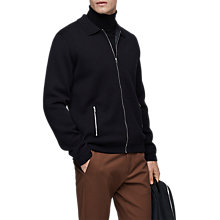 Buy Reiss Tod Full Zip Cardigan, Midnight Online at johnlewis.com
