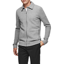 Buy Reiss Dover Knit Jacket, Grey Marl Online at johnlewis.com