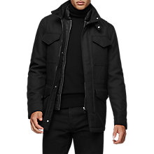 Buy Reiss State Funnel Collar Jacket, Black Online at johnlewis.com