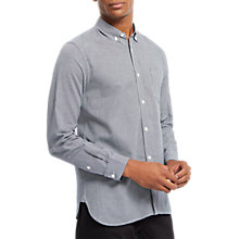 Buy Jaeger Jacquard Shirt, Navy Online at johnlewis.com