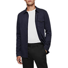 Buy Reiss Somerset Overshirt, Navy Online at johnlewis.com