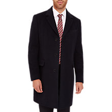 Buy Jaeger Long Overcoat, Navy Online at johnlewis.com