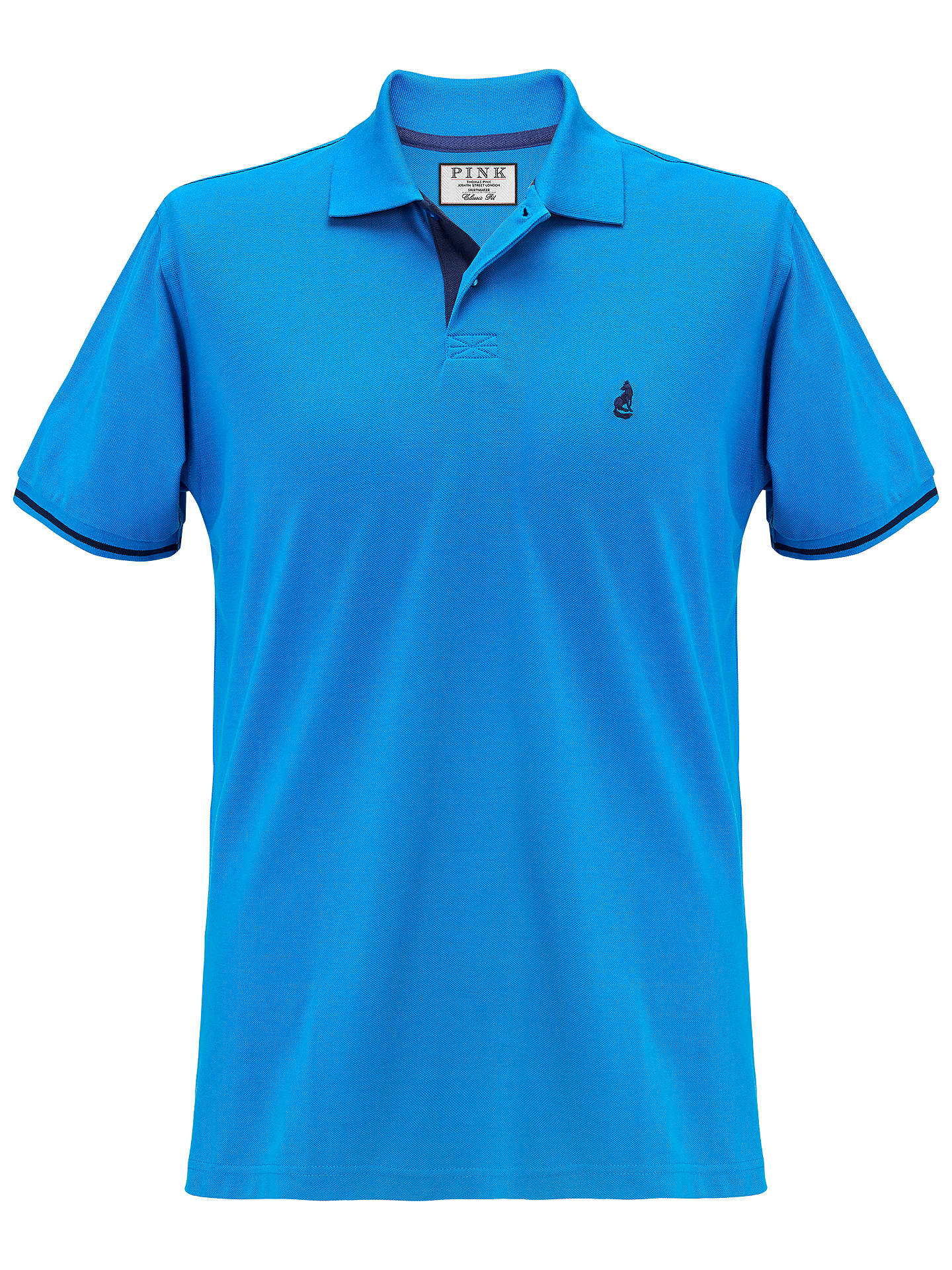 b5d2a52d208 Buy Thomas Pink Brandon Polo Shirt, Blue/Navy, S Online at johnlewis.