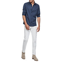 Buy Reiss Jason Pique Shirt, Airforce Blue Online at johnlewis.com