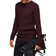 Buy Reiss Pilot Knit Jumper, Plum Online at johnlewis.com