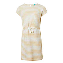 Buy John Lewis Girls' Stripe Sweater Dress, Gold Online at johnlewis.com