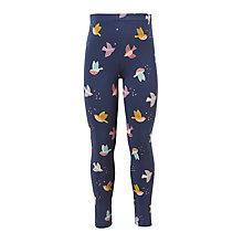 Buy John Lewis Girls' Bird Print Leggings, Navy Online at johnlewis.com