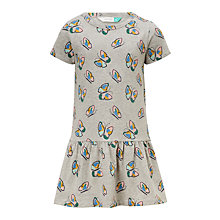Buy John Lewis Girls' Butterfly Geometric Dress, Grey Online at johnlewis.com
