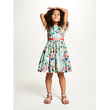 Buy John Lewis Girls' Blossom Print Dress, Teal Online at johnlewis.com