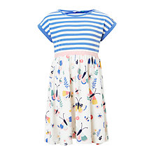 Buy John Lewis Girls' Butterfly Stripe Dress, Gardenia/Blue Online at johnlewis.com