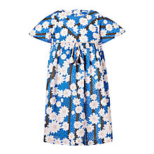 Buy John Lewis Girls' Floral Stripe Dress, Navy Online at johnlewis.com