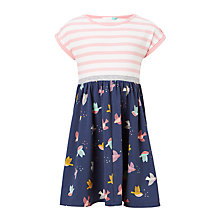 Buy John Lewis Girls' Half Bird Dress, Navy Online at johnlewis.com