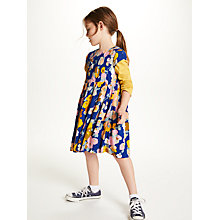 Buy John Lewis Girls' Multi Floral Print Dress, Navy Online at johnlewis.com